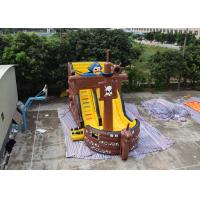 China Pirate Ship Design Indoor Blow Up Bouncers , Safety Kids Inflatable Slide on sale