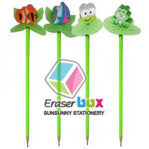 China SET012  pencil eraser toppers, multicolor pencil topper TPR promotion eraser on sale