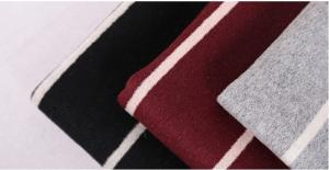 China 60% wool red white striped wool fabric for women's coat 820G/M Wholesale on sale
