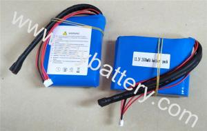 China 4S1P 13.2 2500mAh A123 26650 cell- high discharge current a123 lifepo4 battery pack 2.5Ah 13.2V supplier