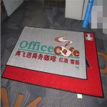 Nylon material pvc backing printed brand logo entrance mat