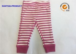China Yarn Dye Baby Pajama Pants , Kids Cotton Pajama Pants With Elastic Waistband on sale