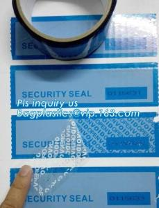 China Tamper evident holographic label / Security Hologram VOID sticker,Antifake Logo Printing Peel Off Void Sticker, Warranty on sale