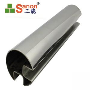 China Anti Corrosion Fixing Welded Slotted Tube SS304 Stainless Steel Groove Pipe on sale