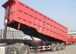 Steel Material 4 Axle Semi Trailer 32 Tons Loading For Mining / Construction Sites