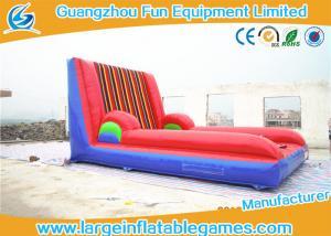 China Custom Inflatable Sport Games , Inflatable Velcro Wall Slip N Slide 5*4M on sale