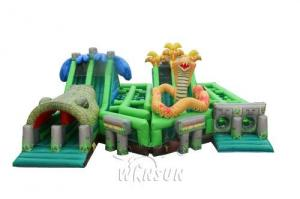 China The Lost Jungle inflatable obstacle course WSP-295/Theme combination of forest animal exploration on sale