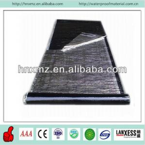 China 3mm 4mm Reaction Cross Membrane Self Adhesive HDPE Waterproof Membrane on sale