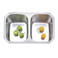 SUS 304 stainless steel undermount double bowl kitchen sink