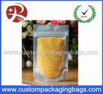 Os sacos plásticos recicláveis do Ziplock cancelam a folha representam acima o empacotamento de alimento