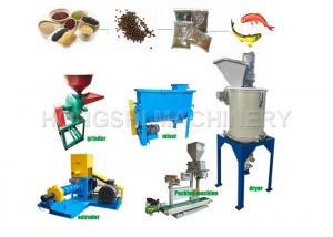 China Large Capacity 120kg/h HS-40C Multifunctional Floating Fish Pellet Machine 120kg/h on sale
