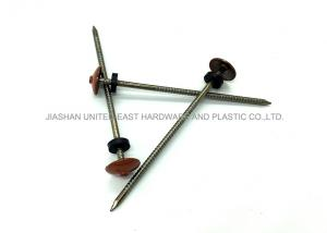 Quality Polished Umbrella Head Roofing Nails Stainless Ring Shank Nails Red Varnished for sale