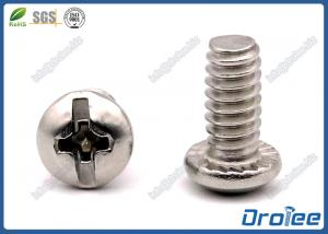 China Stainless Steel Philips Slotted Combo Drive Pan Head Serrated Machine Screws on sale