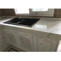 Decorative Prefab Kitchen Countertops Gold Quartz Slab Luxury Appearance