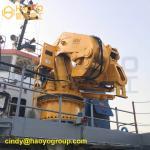 Foldable Marine Deck Boom and Jib of Crane