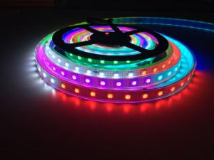 China DC5V WS2813 led Strip Addressable Dual-signal wires RGB led pixel strip,waterproof with silicon tube,5m on sale
