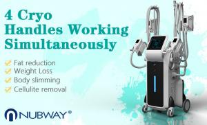 China Cryolipolysis slimming machine with 4 cryo handles / 4 cryo handles can work at the same time save treatment time on sale