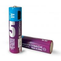 China Micro USB recharge AA Rechargeable Batteries 20g 1.5V AA1300mWh long cycle times up to 1200 on sale