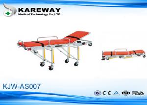 China Patients Transfer Ambulance Stretcher Trolley , Portable Rescue Stretcher For Hospital on sale