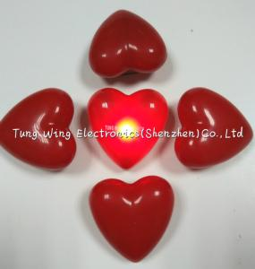 China Heart Shaped Flashing LED Badges For Festival gifts or Party Flashing Items on sale