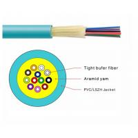 China 2/4/6/8/10/12/24 Core Multi Mode Indoor Fiber Optic Cable GJFJV GJFJV OM2 / OM3 on sale