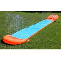 China 0.25mm Outdoor Blow Up Water Slides Heavy Duty PVC Material With Racing Raft on sale