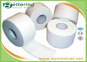 China Cotton White Athletic Tape For Trainers Strapping , Adhesive Sports Wrap Tape on sale