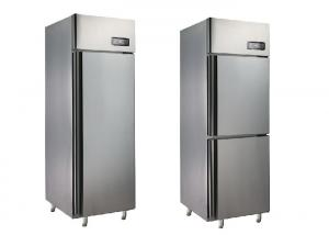 China Commercial Upright Refrigerator Stainless Steel Fridge With 1 Door / 2 Doors on sale