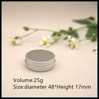 China 25g Cream Jar Silver Small Round Container Custom Aluminum Cans on sale
