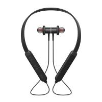 stereo bluetooth earbuds wireless neckband headphones for iphone black