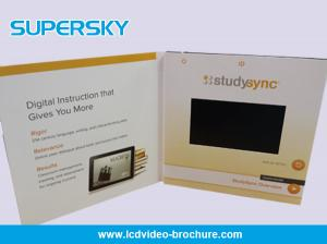China 7 Inch LCD Video Brochure Offset CMYK Printing Video Birthday Cards on sale