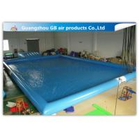 China Blue Inflatable Swimming Pool With Platform , Large Inflatable Pool For Adults on sale