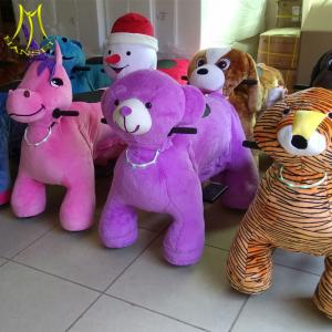 China Hansel  coin operated  walking animal safari ride for mall electronic game machine on sale