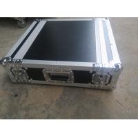 Black Color 2 U Rack case , 2 U Flight Case With 9 MM Thickness Plywood Road Case