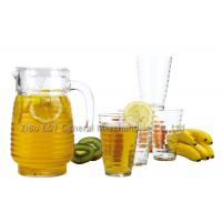 China 5 Pieces Glass decanter and tumbler set for Juice drinking 1.3L / 10OZ on sale