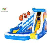 Commercial PVC Tarapulin Blue Mini Inflatable Water Slide With 2 Years Warranty