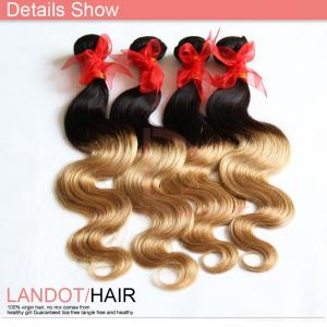 China 2014 Queen Brazilian Ombre Hair Extension Hot Selling Ombre Hair Weaves on sale