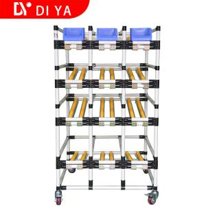 China Metallic Roller Track System DY53 , Multi Layer Pipe Rack Storage on sale