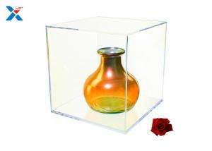 China Artwork Display Acrylic Cube Box , Plexiglass Display Box Elegant And Sturdy on sale