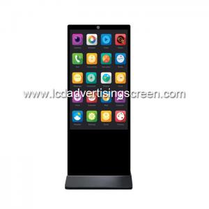 China 55'' Floor Standing LCD PCAP Touch Screen Digital Signage kiosk Display with Face Recognition Camera on sale