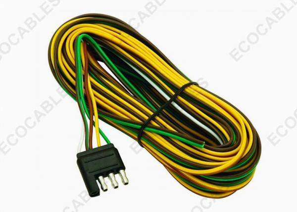 4 - Way Trailer Wiring Harness For Vehicle Side Color Coded ...  Automotive Wire Harness on