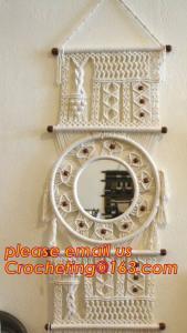 China MACRAME TABLE RUNNER, MACRAME LAMP SHADE, MACRAME DOOR CURTAIN, MACRAME YOGA BAG on sale