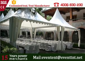 China 10 x 10 m large aluminum structure large wedding pagoda tent for sale with white cover on sale