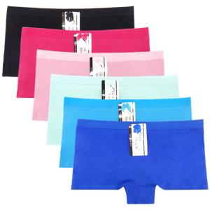 China Yun Meng Ni Sexy Underwear Cotton Boyshort Plain Color Women Panties on sale
