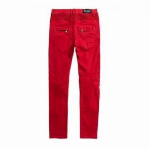 China Balmain Jeans For Men Straight Leg Knee Drape Panel Moto Biker Jeans Skinny Slim Fashion Brand Men's Denni Jeans on sale