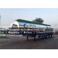 3 Axle 40000l 60000L Fuel Tanker Trailer for Oil / Liquid Transportation