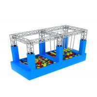 American Inflatable Sports Games / Kids Game Ninja Warrior Obstacle Course Trampoline