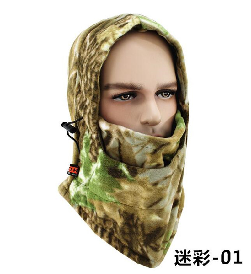 camouflage Headgear Cap Women Defence Hood Cycling Mask Balaclava Beanies Motorcycle Winter Ski Hat Men Outdoors