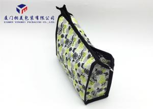 China Rectangle Shape Fashion Lady Hand Bag Canvas Bag 19cm Height Fabric Makeup Bag on sale