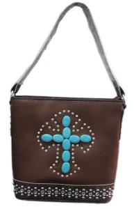 China 2014 Fashion New Inlaid Stones Shoulder Bag Handbag Purse Cross on sale